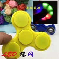 LED Lights Fidget Spinner Luminous Hand Spinner ABS HandSpinner Doigts Spirale Fingers Gyro 2 Couleurs OOA1389