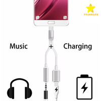 2 in 1 Earphone Headphone Audio Charge Adapter Cable Connect...