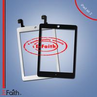 Pour iPad Air 2 Écran tactile Numériseur Assemblage avec bouton d'accueil et d'adhésif Remplacement Livraison gratuite