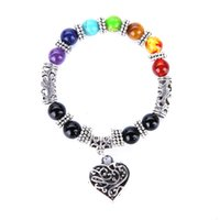 2017 New Mens Womens 7 Chakra Bracelets Bangle Colors Mixed ...