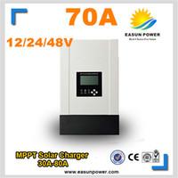 Лучший 70A MPPT солнечный контроллер 12v 24v 48v солнечный регулятор заряда солнечный регулятор 4000w солнечной энергии