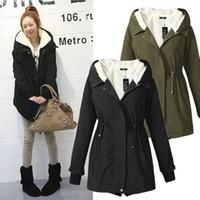 Оптово - куртка пальто зимы пальто зимы застежки -молнии пальто куртки женщин куртки армии длинняя сгущает размер плюс свободная перевозка груза 5058