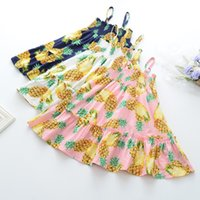 Everweekend Girls Pineapple Ruffles Cotton Summer Dress Cand...
