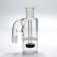Deux colliers de cendres de couleur 18-18MM verre ashcatcher bong accessoires et Whirlpool Percolator pipe de fumer plates-formes pétrolières Ashcatcher livraison gratuite