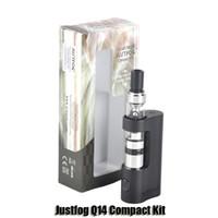 Authentique Justfog Q14 Compact Kits 900mAh Variable Voltage Batterie Mod 1.8ml 1.6ohm Q14 Tank Atomizer