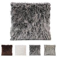 Soft Fur Plush Throw Pillow Cover Soft Fur Cushion Case Plus...
