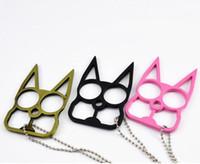 20pcs Novelty Self Defense Brave Cat Keychain 2016 New Desig...