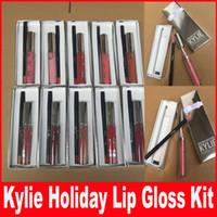 10 цветов Кайли Косметика для губ Kit Vixen Веселого отдыха Выпуск 1 Matte Lipstick Liquid и 1 Карандаш для Губ Vixen Рождеством