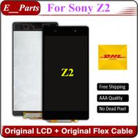 Original AAA grade pour Sony Xperia Z2 L50W D6502 D6503 D6543 Écran LCD Écran tactile Digitizer sans cadre