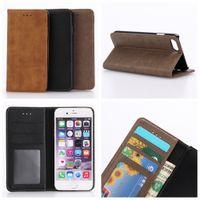Premium luxe de conception de livres stand flip fermeture magnétique iphone 7 étui portefeuille iphone 7 plus sac portefeuille avec cadre photo fente pour carte
