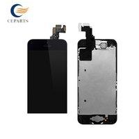 Pour l'iPhone 5C Montage d'écran LCD avec l'écran tactile Numériseur Assemblage + Bouton Accueil + Caméra Frontale complète Livraison rapide noir