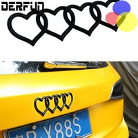 DIY 5 Colors Heart Car audi Tail logo badges change Cute Sma...