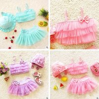 Baby Clothes Girls Swimwear Kids Swimming Bikinis Set Three ...