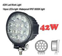 IP 67 4. 5 INCH 42W LED WORK LIGHT FLOOD OFFROAD LIGHT FOR TR...