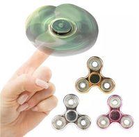 Fidget Spinner 3 цвета Gold Plating Hand Spinner Torqbar Triangle Toys Fingertip Декомпрессия Тревожный гироскоп с розничной коробкой OOA1435