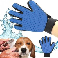 Alta calidad verdadera tacto Deshedding cepillo guante perro de mascota Gato suave masaje de masaje eficiente DHL FEDEX libre