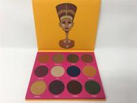 2016 Nouveau stock d'arrivée La palette Nubian 2nd Edition palette ombre à paupières par PLACE JUVIA 12Pcs Makeup Palette