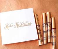 Новое прибытие КОКО Kollection золота на день рождения ограниченный макияж 4шт / комплект KYLIE Liquid матовые помады Kollection Кайли косметика блеск для губ