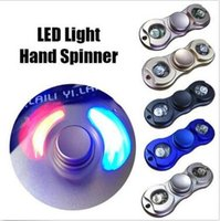 5 couleurs LED Hand Spinner Metal Fidget Spinner Finger Fingertip Gyro Tri-Spinner Handspinner Fidget Toy EDC Décompression Toy CCA5767 100pcs