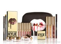 Nouvelle édition limitée Golden Kylie Jenner Lip Gloss 12 couleurs Kylie cosmétiques Mat Lipstick lèvres Gloss Kit Lip anniversaire Limited lipgloss d'or