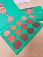 Nueva paleta de la sombra de ojos de la edición de Nubian del lugar de Juvia caliente 12 colores Maquillaje de la gama de colores de la sombra de ojo alta calidad