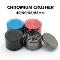 CHROMIUM CRUSHER Grinder 4 слоя Измельчители 40мм 50мм 55мм 63мм цинковый сплав Херб Grinder Херб специй дробилка с магнитным Top УПАКОВКИ