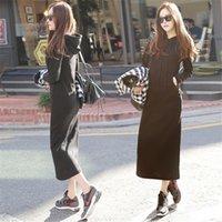 Hot Fashion Autumn Fall Winter Women Black Gray Sweater Dres...