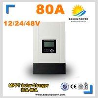 Лучший 80A MPPT солнечный контроллер 12v 24v 48v солнечный регулятор заряда солнечный регулятор 4000w солнечной энергии