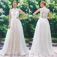 2017 New Arrivals Lace High Neck A- Line Wedding Dresses Cust...