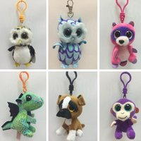 Ty Beanie Boos Plush Stuffed Keychain Pendant Big Eyes Anima...