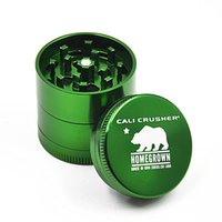 Cali Crusher Rectificadoras 40mm Herb Grinder Aleación de aluminio Material 4 piezas Herb Spice Crusher 4 colores disponibles Gift Box Packaging