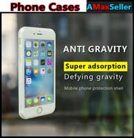 Anti-gravité cas pour iphone 7 magique Nano collant anti-gravité Wall Back Cover TPU clair cas pour iphone 7plus 6s 6plus shell de protection