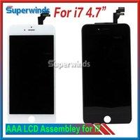 Grade AAA Qualité LCD Numériseur Assemblée Pour Iphone 7 No Dead Pixel Pas de problèmes de contact Free DHL