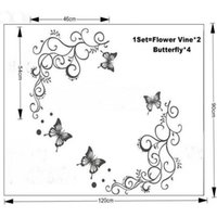 DIY Butterfly Feifei Flower Stickers Wall Decal Removable Ar...