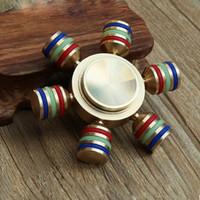 Torgbar laiton EDC outil à la main spinner HandSpinner à main spinners fidget spinner Roulement en céramique 608 DHL OTH369