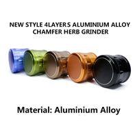 63мм Херб шлифмашины Алюминиевый сплав Херб специй дробилка 4 частей металла Grinder высокого качества 6 цветов