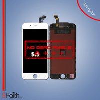Vente en gros-Aucun mortel Pixel Grade A +++ Affichage LCD pour iphone 6 Plus remplacement d'écran avec numériseur tactile Livraison gratuite