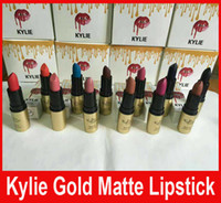 Кайли Блеск для губ губная помада для губ Дженнер Золотой блеск для губ помада матовая Kylie комплект для губ 12 цветов
