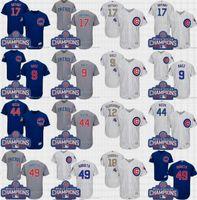 2017 Gold Program Cool Base Chicago Cubs jerseys 17 Kris Bry...