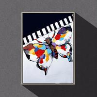 Богатый цвет моды бабочка животных, чисто ручная роспись современного декора стены абстрактного искусства маслом на качество Canvas.customized размер