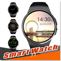 Bluetooth Smart Watch 1.3 pouces IPS rond écran tactile résistant à l'eau KW18 Smartwatch Phone avec carte SIM Slot Sleep Heart Rate Monitor