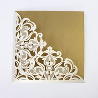 Wed invitation card laser cut folded valentine' s day in...