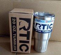 RTIC Logo Cups Tumbler Rambler Coupes en acier inoxydable Sharp comme YT Tasses 30 oz 20 oz Cooler bicouche isolation tasses 50pcs DHL libre