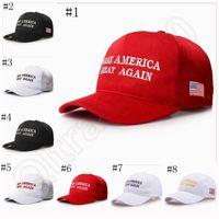 Сделать Америка Великий Снова Дональд Трамп Hat Республиканский регулируемый Вышивка Caps America Vote Caps 8 конструкций OOA1017