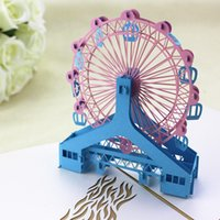 Ferris wheel 3D popup card birthday father' s day mother...