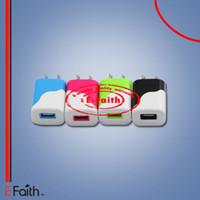 AC US plug mur usb chargeur pour iphone / téléphones cellulaires (5V / 1A) Colorful AC Plug mini petit cube voyage adaptateur