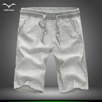 Оптовая продажа горячего лета 2016 года новые мужские шорты Шорты повседневные свободно работоспособных шорты стиль лен хлопок плюс размер M-5XL