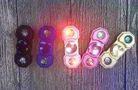 LED Light Hand Spinner Alloy Luminous Fidget Spinner Fingert...