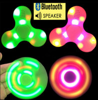 LED Music Hand Spinner Bluetooth Flash Finger Gyro Fingertips Spirale Décompression Spinner Toys Anti Stress Toys OOA1658