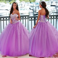 2017 Light Purple Ball Gown Quinceanera Dresses Sweetheart C...